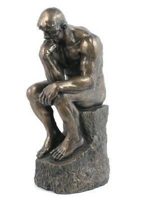 "Le Penseur The Thinker Statue 9""H Figurine by Auguste Rodin Sculpture"