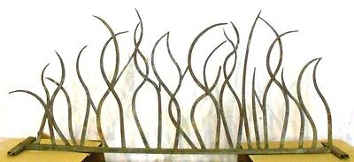 "Decorative Iron Fence/edging/border/gaurd Flame/vine Style 39 1/4"" H X 88"" W"
