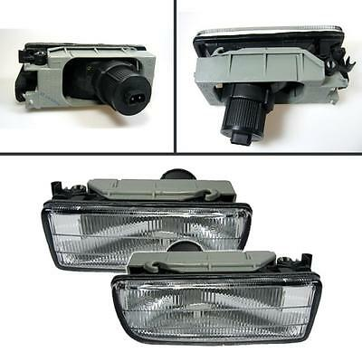Bmw E36 3 Series 1990-2000 Clear Front Fog Spot Lights Lamps Pair Left & Right