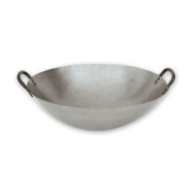 "Large Professional Iron Wok, Diameter: 40cm (400mm/16"")"