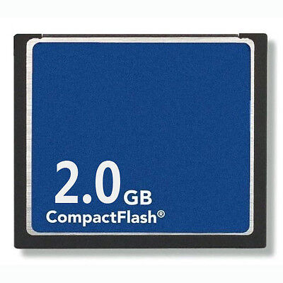 2GB CompactFlash Standard CF Memory Card Generic Brand NEW W/Case