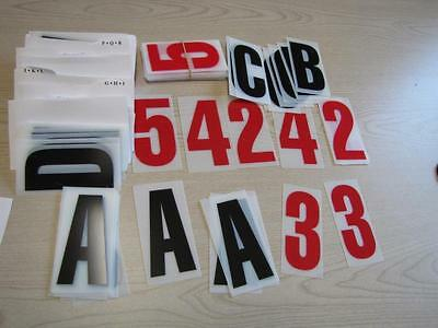 "Extra LETTER KIT For Sidewalk Sign - Black letters 4"" Changeable Flexable"