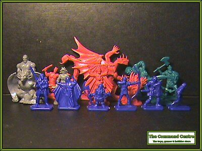 Dragon Strike Fantasy Game Figures like HeroQuest Warhammer made by TSR (D&D's)