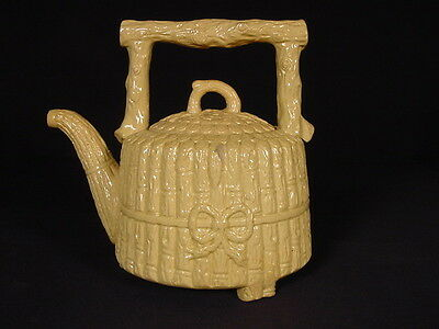 Very Rare 1872 Signed And Dated Teapot Yellow Ware