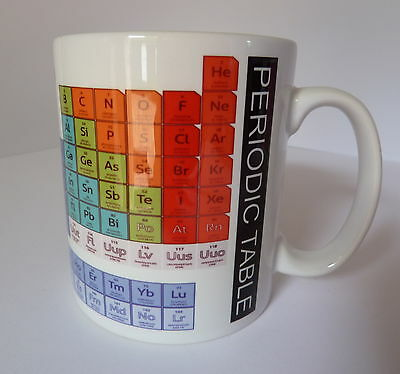 Periodic Table Of Elements Gift Present Mug Cup Student Chemistry Teacher