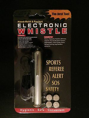 Rape Whistle, Push Button Electronic, Alerts Others And Gets You Help Fast!