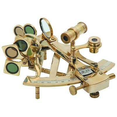 Bookshelf or Desk Brass Sextant Decorative Nautical Tool Sailing Collection