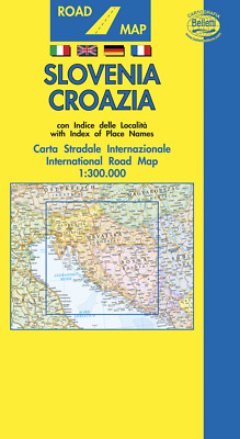 Slovenia Croazia Cartina Stradale [Scala: 1:300.000] [Carta/mappa] Belletti Ed.