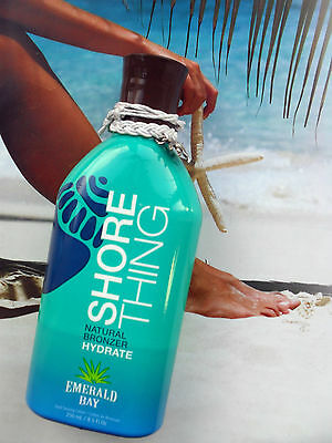 New Emerald Bay Shore Thing Dark Tanning Sunbed Uva Bronzer Lotion + Free Gifts