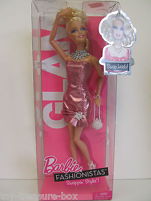 Barbie Fashionistas Swappin' Styles GLAM Doll & Accessories - Ages 3 & Up