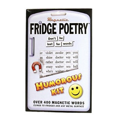 HUMOROUS FRIDGE POETRY Magnet Gift Set Over 400 Magnetic Funny Word Magnets