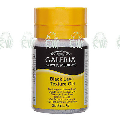 Winsor & Newton Galeria BLACK LAVA TEXTURE GEL Acrylic 250ml.Artist Paint Medium