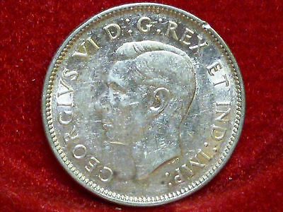 Canada  1944 Twenty-Five Cents Silver