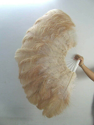 "Custom Colors Combination Double Layer Ostrich Feather Fans Burlesque 30""x54"""