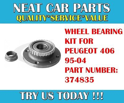 Rear Axle Wheel Bearing Kit With Abs Ring For Peugeot 406 95-04 374835 Oem!!