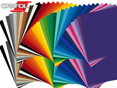 "5 Sheets - 12"" X 12"" ORACAL 651 Craft & Hobby Cutting Vinyl - *40 Color Choices"