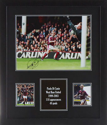 Framed Paolo Di Canio Signed West Ham United Photograph See Proof Hammers