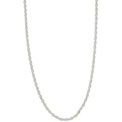 """2mm Diamond-Cut Rope Necklace Chain Silver Plated Men/Women 16""""~24"""" Wholesale"""