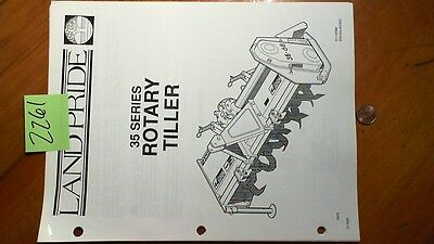 Land Pride 35 Series Rotary Tiller Owner's Operator's Manual w/Illustrated Parts