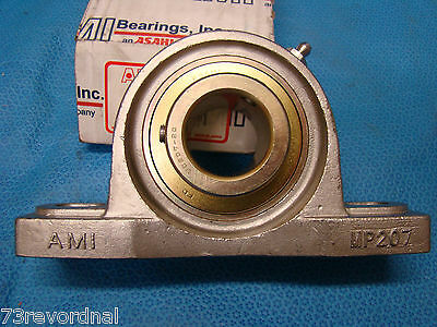 AMI MP207 1-1/4 Pillow Block Stainless SteelUCMP20720MZ2 Asahi UCMP-20720MZ2