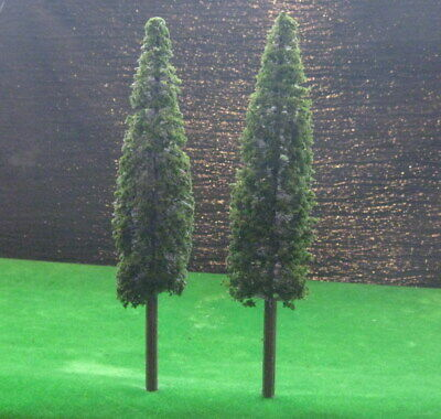 SS220 4pcs Model Pine Cedar Trees Deep Green For O G Scale Layout 22cm New