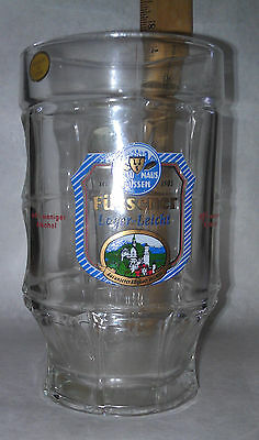 Fussener Lager Leicht Beer Dimpled Mug Collectible Beer Barrel Shape new