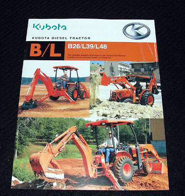 KUBOTA L39 TRACTOR & Loader PLUS Backhoe Operator's Manuals (Set of
