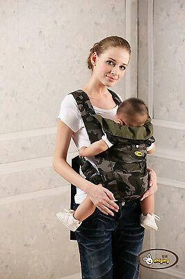 High Quality 100% Cotton Front & Back Infant Backpack Sling Wrap Baby Carrier