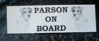 Parson Russell Terrier On Board Car Sign