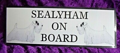 Sealyham Terrier On Board Car Sign