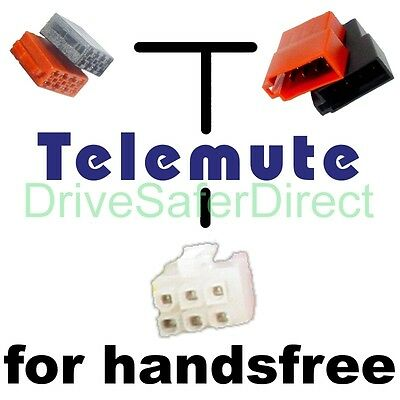T39800 Telemute lead for handsfree: ISO models of Fiat