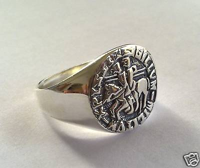 Solid Silver 925 The Seal Of Knights Templar Ring