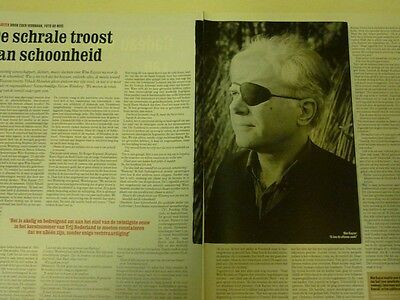 Dutch 1999 magazine clipping 2 p: Wim Kayzer