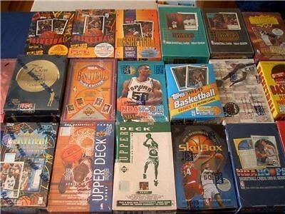 Great Lot of 5 OLD Unopened BASKETBALL Cards in Packs NBA