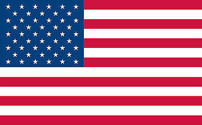 2 USA American Flag Decals Stickers United States of America Old Glory FLG1