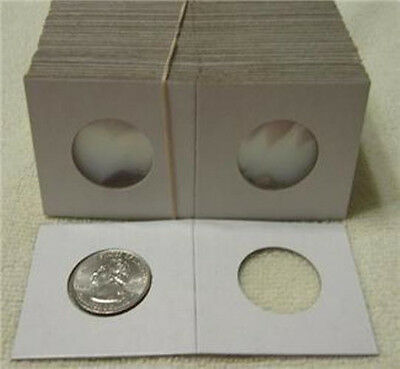 100 2x2 Cardboard Coin Holders  Quarter Archival Safe