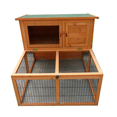 Large Double Story Rabbit House Chook Hutch Cage with FRONT RUN P023