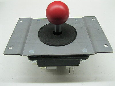 New HAPP MS Pacman Red Ball Joystick Mounting Adapter Plate Complete Replacement