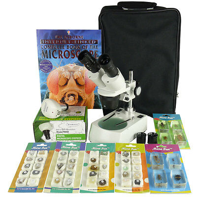 Stereo Dissecting Microscope Bundle - 20X & 40X - FREE Camera & EXTRAS RRP $445