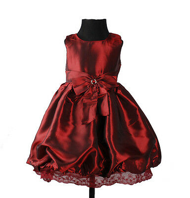 New Girls Burgundy Party Dress 9-12 Months
