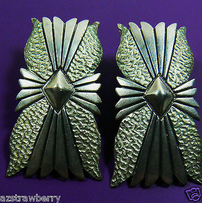 Vintage Sterling Silver 925 Signed Large Earrings