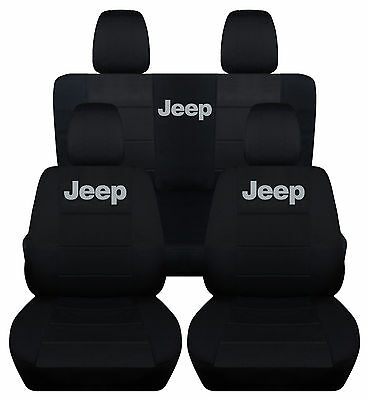 front+back seat cover in blk w/ Jeep for 11-16 Jeep wrangler sport 2dr,CHOOSE !!