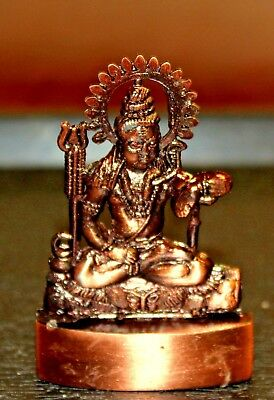 Lord Shiva Shiv Siva Bhole Shankar God Antique Metal Mini Statue Hindu Idol Nath