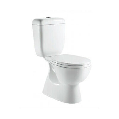 Toilet Suite New WELS S Trap Close Coupled Ceramic with Soft Closing Seat