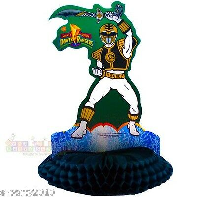 POWER RANGERS HONEYCOMB CENTERPIECE TABLE DECORATION ~ Birthday Party Supplies