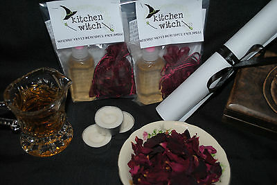 VENUS BEAUTY / Beautiful Face Organic Rose Water Witches' Bottle Spell Kit
