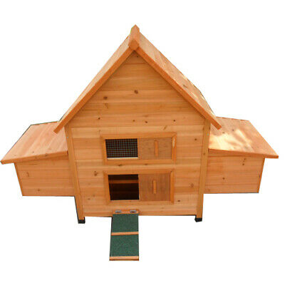 Large Classical Chicken Coop House Hutch with double Egg Cage P022