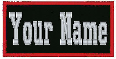 """1 Custom Embroidered Name Patch Biker Motorcycle Tag Personalized 5"""""""