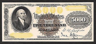 Proof Print by the BEP - Face of 1878 $5000 United States Note (US Note)