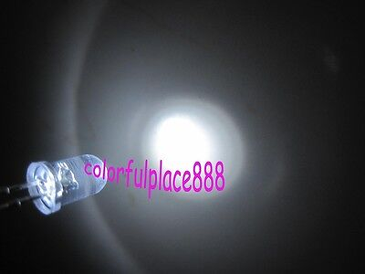 50pcs, 5mm White Flash Self Flashing Blink Water Clear Bright LED Leds Light